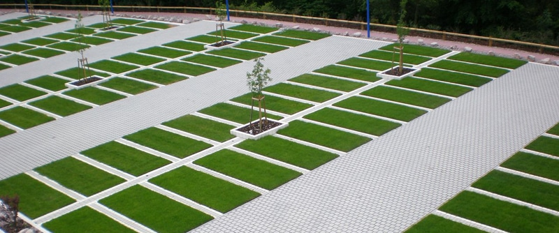 Permeable grassy pavers a beautiful solution for urban for Green pavers